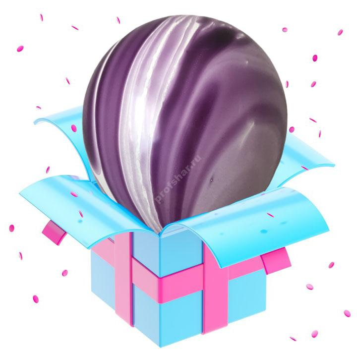 Шар мраморный фиолетовый