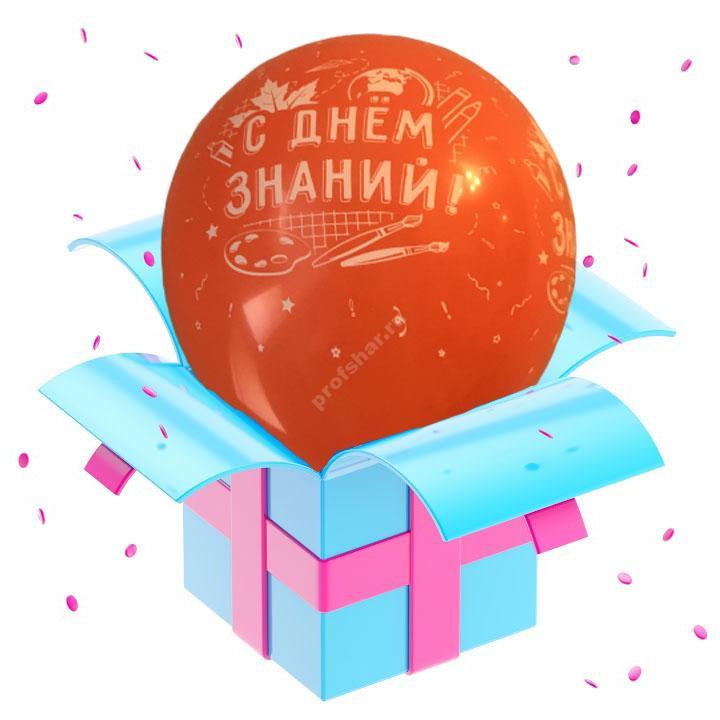 Шар оранжевый «С днем знаний»