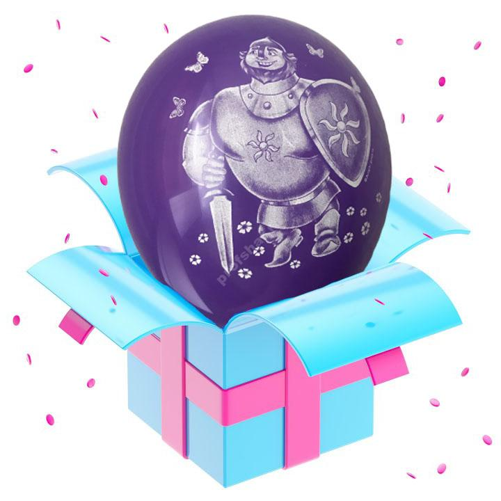 Шар «герои сказок» фиолетовый