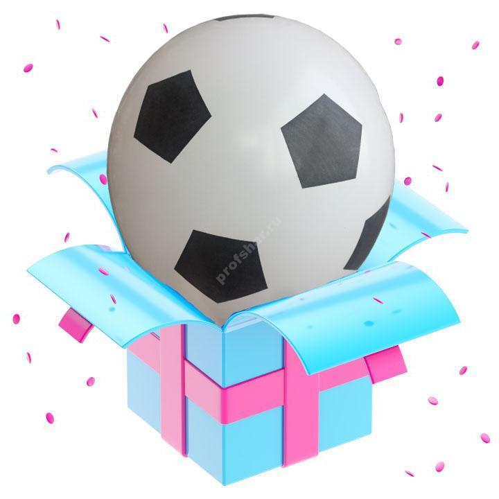 Шар латексный цвет белый «Мяч»