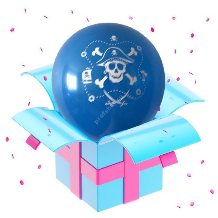 Шар голубой «Пираты»
