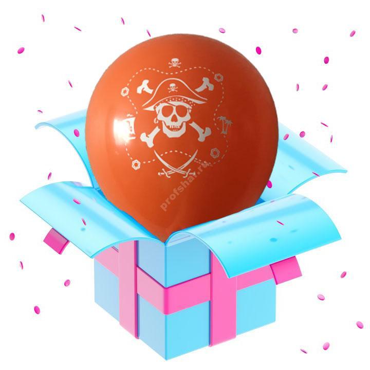 Шар оранжевый «Пираты»