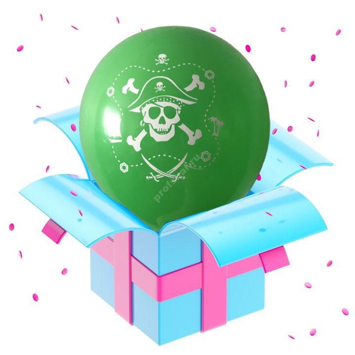 Шар зеленый «Пираты»