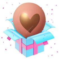 розовый с сердцем золото