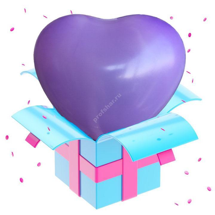 Шар фиолетовый в форме сердца