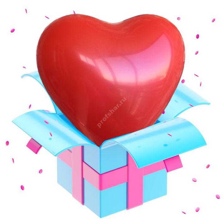 Шар красный в форме сердца