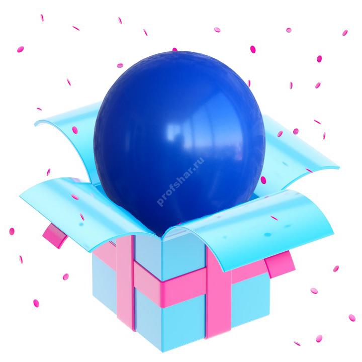 Шар латексный цвет синий