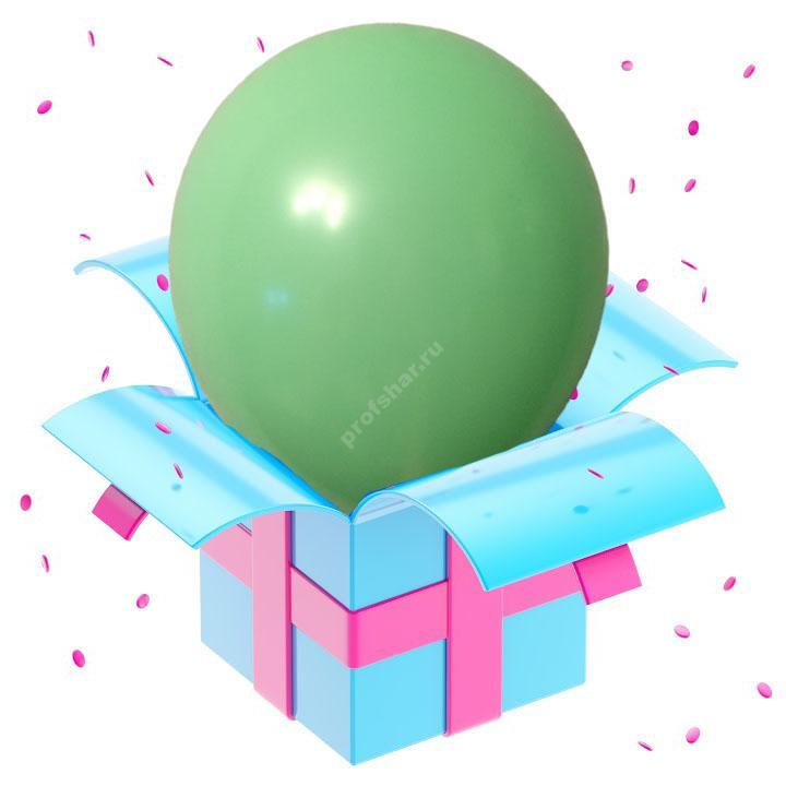Воздушный шар зеленого цвета