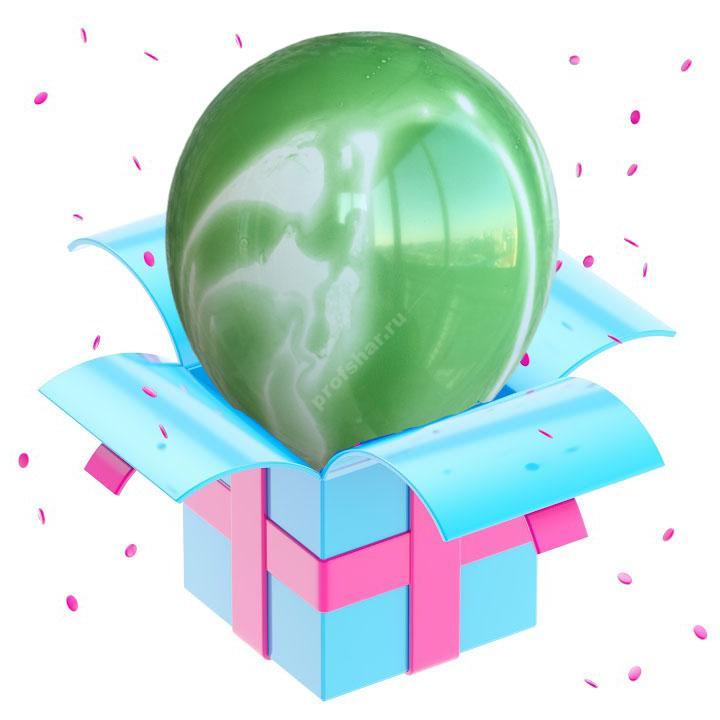 Шар мраморный зеленый