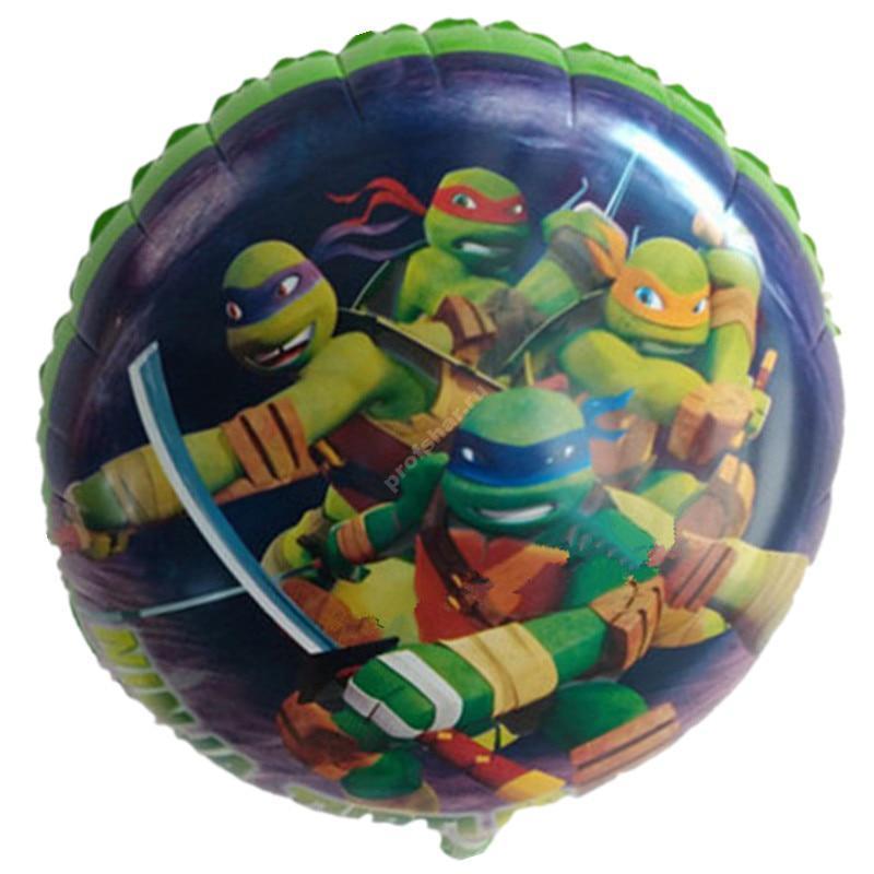 Фольгированный шар круглый «Черепашки Ниндзя»