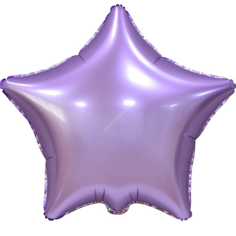 Шар фольгированный звезда цвет нежно сиреневый