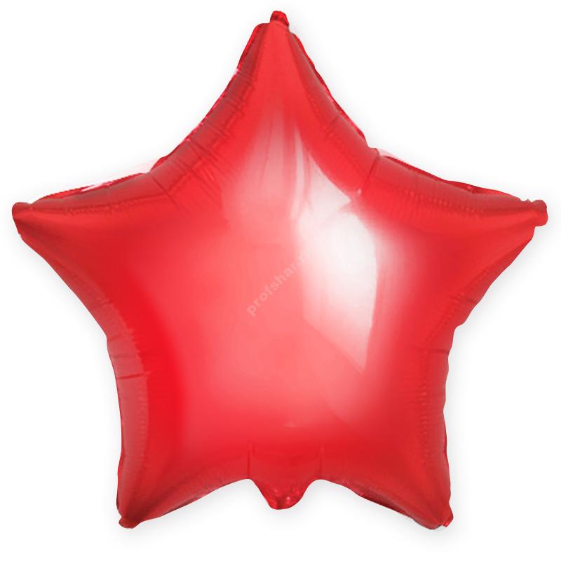 Шар фольгированный звезда цвет красный