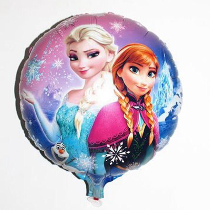 Фольгированный шар круглый «Эльза и Анна»