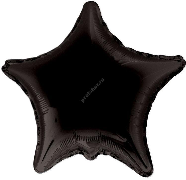 Шар фольгированный звезда цвет черный