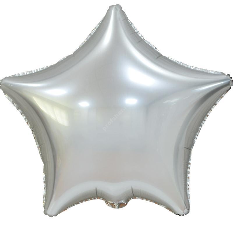Шар фольгированный звезда цвет серебро