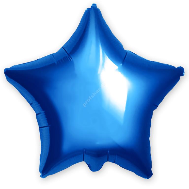 Шар фольгированный звезда цвет синий