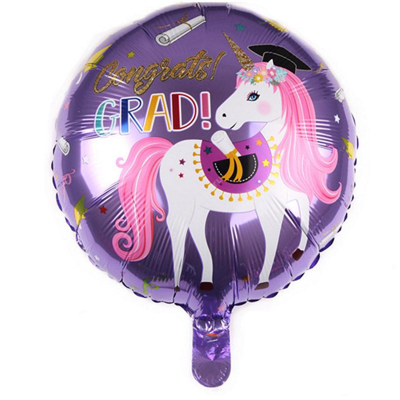 Фольгированный шар круглый «Единорог»