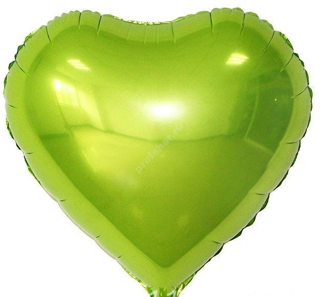 Шар фольгированный сердце цвет лайм