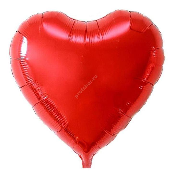 Шар фольгированный сердце цвет красный