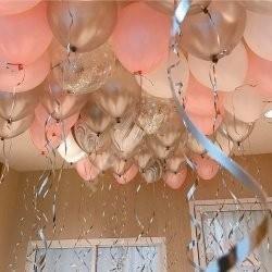 Композиция из шаров под потолок 4